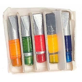 בובות בית תיבת צבע צינורות מיניאטורי 1:12 סולם אמן בית הספר אביזר מחקר
