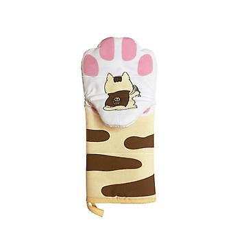 Baking Insulation, Microwave Heat Resistant, Non Slip Kitchen Anti-scald gloves