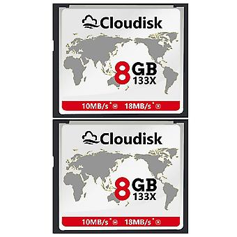 Cloudisk 2x cf card 8gb compact flash 133x 18mb/s or faster memory card performance for vintage digi