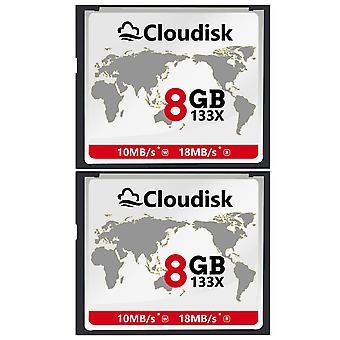 Tarjeta Cloudisk 2x cf 8gb flash compacto 133x 18mb/s o un rendimiento más rápido de la tarjeta de memoria para digi vintage