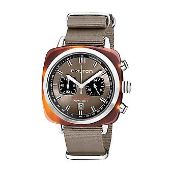 Briston 20142.SA.TS.30.NT Clubmaster Sport Acetate Wristwatch Grey Taupe