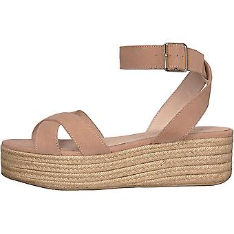 Chinese Laundry Womens Zala Leather Peep Toe Casual Ankle Strap Sandals