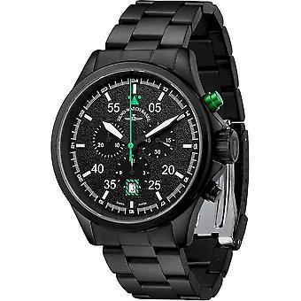 Zeno-Watch - Wristwatch - Men - Speed Navigator Chronograph black-green - 6751-5030Q-bk-1-8M