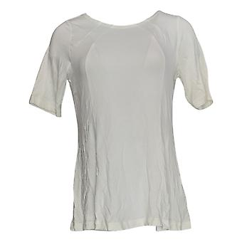 Belle By Kim Gravel Women's Top Essential Fit And Flare White A306976