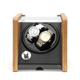 Doppelte Uhrenwickungen Holz Acryl Fenster Kohlefaser leise Motor Lagerung