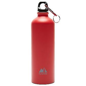 New Eurohike Aqua 0.75L Aluminium Water Bottle Hydration Flasks Red