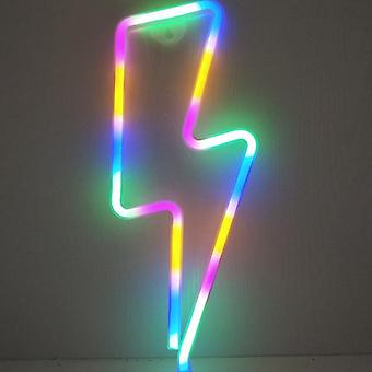 Led Home Neon Lightning Shaped Sign Fulmination Light