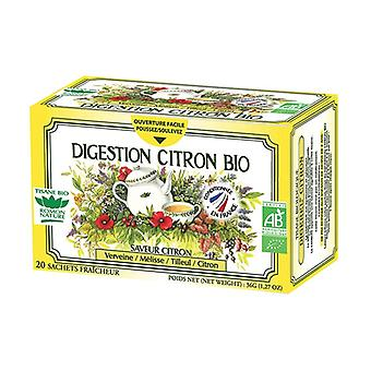 Organic Lemon Digestion Herbal Tea 20 infusion bags