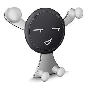 Universal Schwerkraft Auto-Sperre Smiley Auto-Handy-Halter Entlüftungsständer für Samsung Apple xiaomi