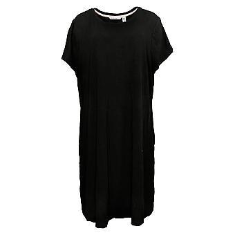 Isaac Mizrahi Live! Petite Dress Short Slv Black A379122