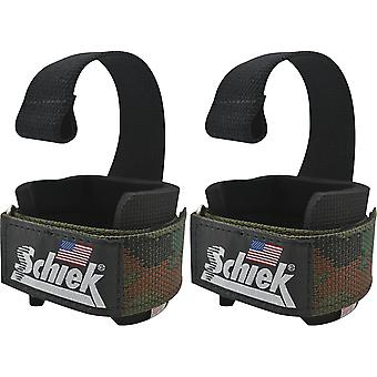 Schiek Sports Model 1000-DLS Deluxe Dowel Lifting Straps - Camo
