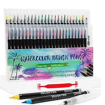 48 Colors Art Marker Watercolor Brush Pens For Painting Drawing (48 Colors)
