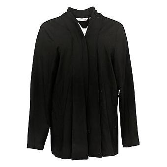 Isaac Mizrahi En direct! Women's Sweater Plus Knit Cardigan Noir A387519