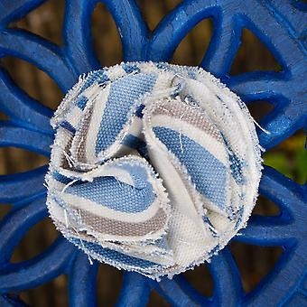 Dog collar flower accessory  - chambray