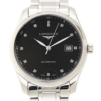 Longines Master Automatic Diamond Black Dial Men's Watch L2.793.4.57.6