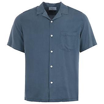 Portuguese Flannel Dogtown Short Sleeve Shirt - Blue