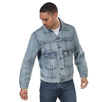 Men's Levis Iconic Original Trucker Jacke in blau
