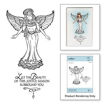 Spellbinders Joyful Season Angel Stamps Zenspired Holidays Collection by Joanne Fink