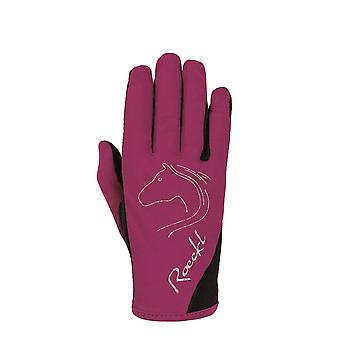 Roeckl Teenies Tryon Riding Gloves - Berry