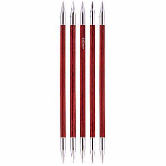 Knitpro رويال: دبابيس الحياكة: مزدوجة العضوية: مجموعة من 5: 15cm × 5.00mm