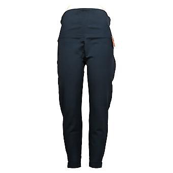 Spanx Ankle Length Ponte Hem Slit Leggings Blue A369380