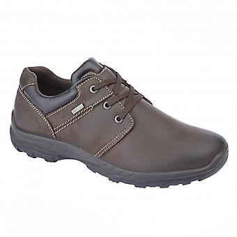 IMAC Ronan Mens Leather Casual Shoes Brown