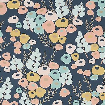 Lily Multicolore Wallpaper