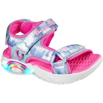Skechers Girls Rainbow Racer Sandales Summer Sky Beach