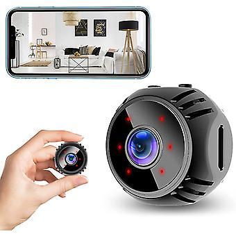 Mini Spy Kamera 1080P HD WiFi Wireless versteckte Kamera mit Bewegungserkennung Nachtsicht und geheime Warnungen für Indoor Outdoor Sicherheit (schwarz)