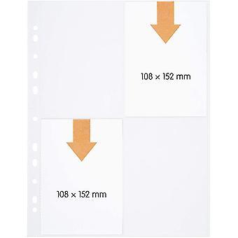 FengChun 100 Sammel-Hllen 4-geteilt, glas-klar, Prospekt-Huelle DIN-A4 transparent, Sicht-Tasche auf