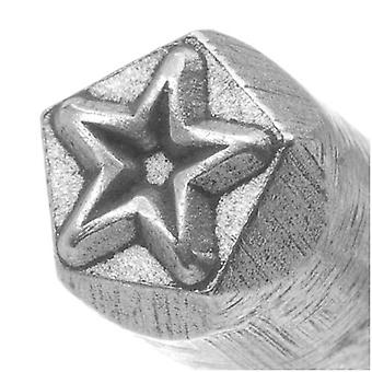 Contemporary Star Outline Punch For Stamping Metal 1/4 Inch 6mm (1)