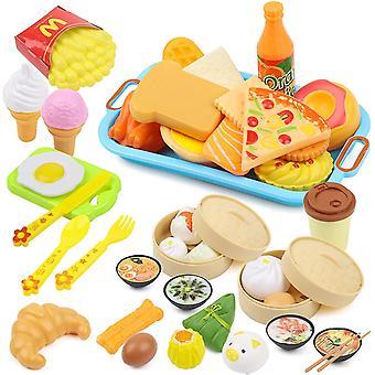 FengChun Kchenspielzeug und Essen Spiele Set, Spielzeug fr Rollenspiel, Pdagogisch Spielzeug fr