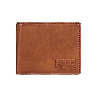 Quiksilver Slim Folder Faux Leather Wallet in Natural