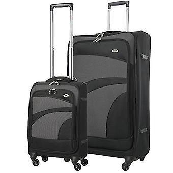 Conjunto de equipaje de carcasa suave ligero de Aerolite (cabina + grande) 4 ruedas
