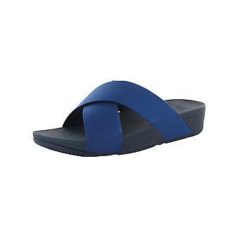 Fitflop Womens Lulu Shimmer Slide Open Toe Sandal Shoes