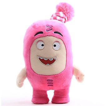 23Cm vaaleanpunainen oddbods pehmonukke, sarjakuva anime nukke rikas hymiöt