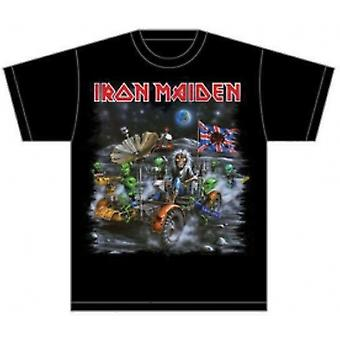 Iron Maiden Knebworth Moonbuggy Mens T Skjorte: Medium
