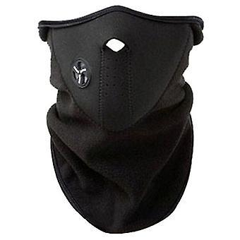 2Pcs noir moto vélo extérieur équitation masque anti-poussière, protection solaire et protection uv masque d'équitation az11687