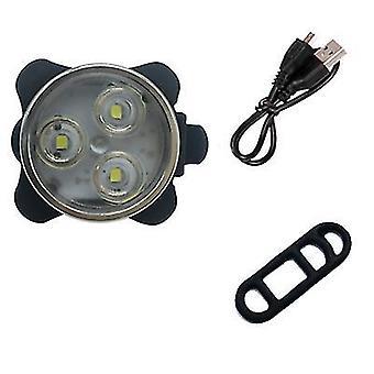 أبيض USB ركوب دراجة ركوب المصابيح الأمامية التحذير والمصابيح الخلفية az11450