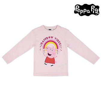 Kinder Langarm T-Shirt Peppa Pig Pink