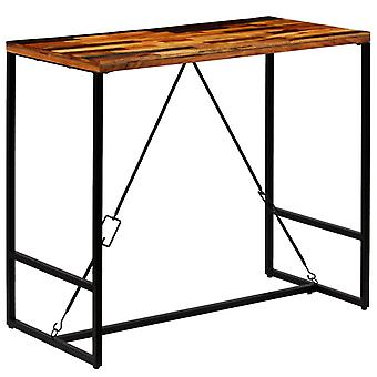 vidaXL Bar table reclaimed wood solid 120x60x106 cm