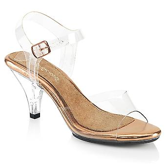 Fabulicious Women's Shoes BELLE-308 Clr-Rose Or/Clr