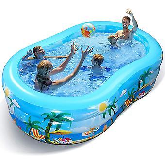 Aufblasbarer Pool - Groß Planschbecken für Kinder, Erwachsene, Babys und Kleinkinder, Family Pool