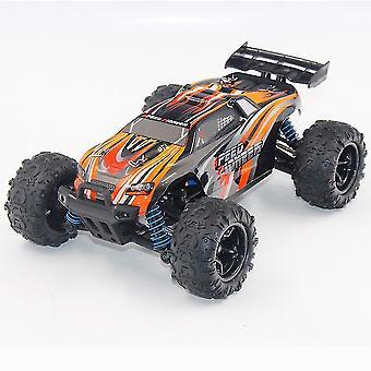 Firehjulstrekk fjernkontroll bil 1:18 off road drivende barnas elektriske leketøy RC modell (Orange)