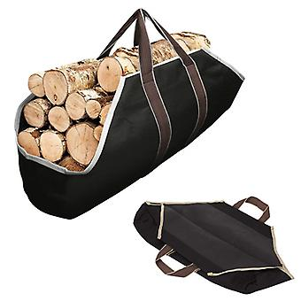 Firewood Storage Bag Canvas Timber Handle Bag Outdoor Carrying Bag Waterproof