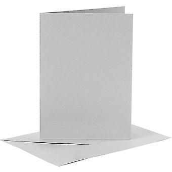 6 A6 grijskaart blanks en enveloppen voor ambachten