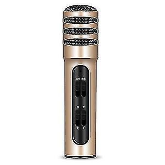 C11 matkapuhelimen karaokejäähdyttimen äänikortin mikrofoni live-laulumikrofoni(Gold)