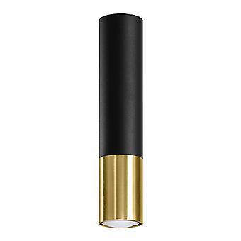 Sollux LOOPEZ SL.0951 Opbouw Downlights Flush Light Zwart, Goud GU10