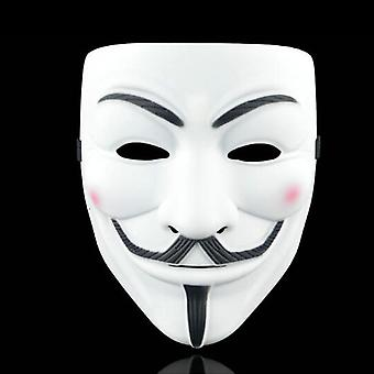 Anonymous Hacker V-vendetta Face Mask Adult Cosplay Fancy Prop