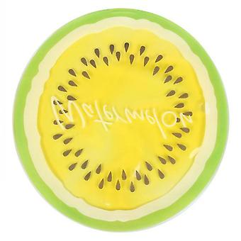 Transparent Fruit Cooling Pad, Round Gel Ice Pad, Multifunctional Cooling Pad(Yellow)